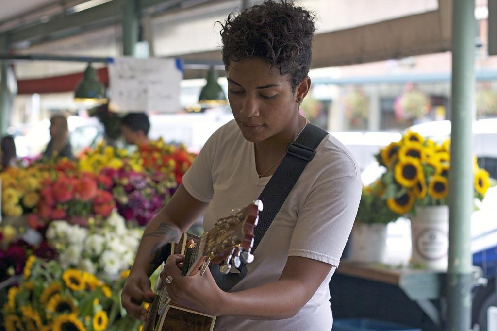 Market Street Performer Whitney Monge' by seattle
