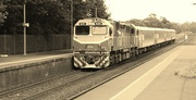 6th Jan 2014 - 7.48 pm  V/Line Locomotive from Melbourne at Garfield station...