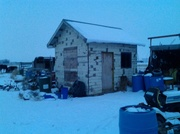 8th Jan 2014 - shed with fresh snow overhang