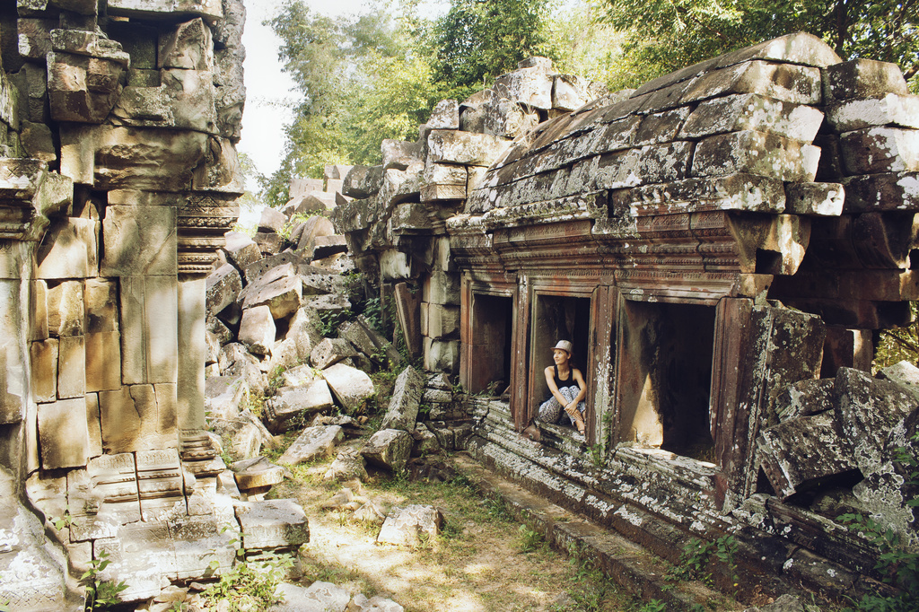 Angkor All Alone by lily