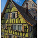 Half-timbered houses in Weikersheim, Baden-Württemberg, Germany by ivan