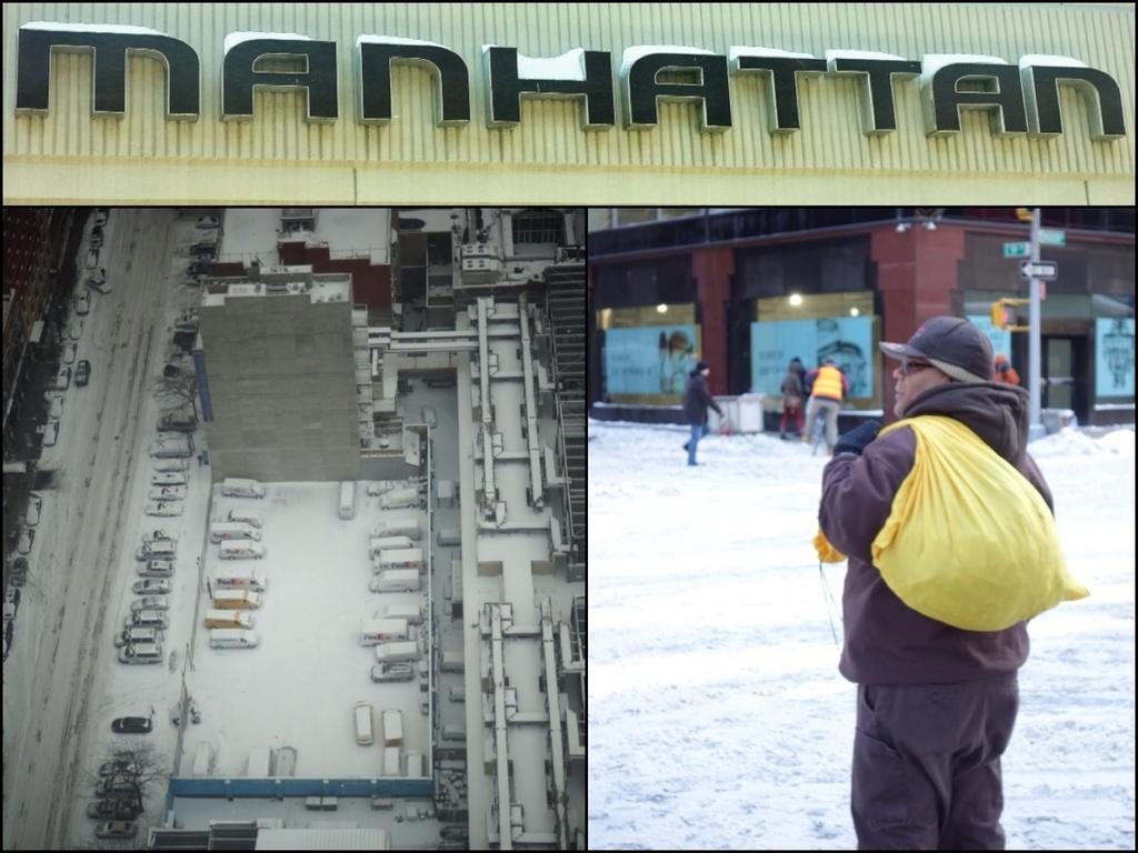 Manhattan under the snow by cocobella
