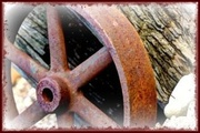 """21st Jan 2014 - """"One wheel on my old wagon """" !--six word story"""