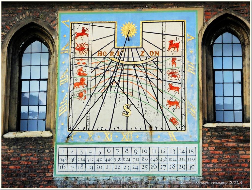 Complex Sundial,Queens College,Cambridge by carolmw