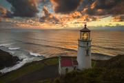 3rd Feb 2014 - Horizontal Lighthouse At Sunset
