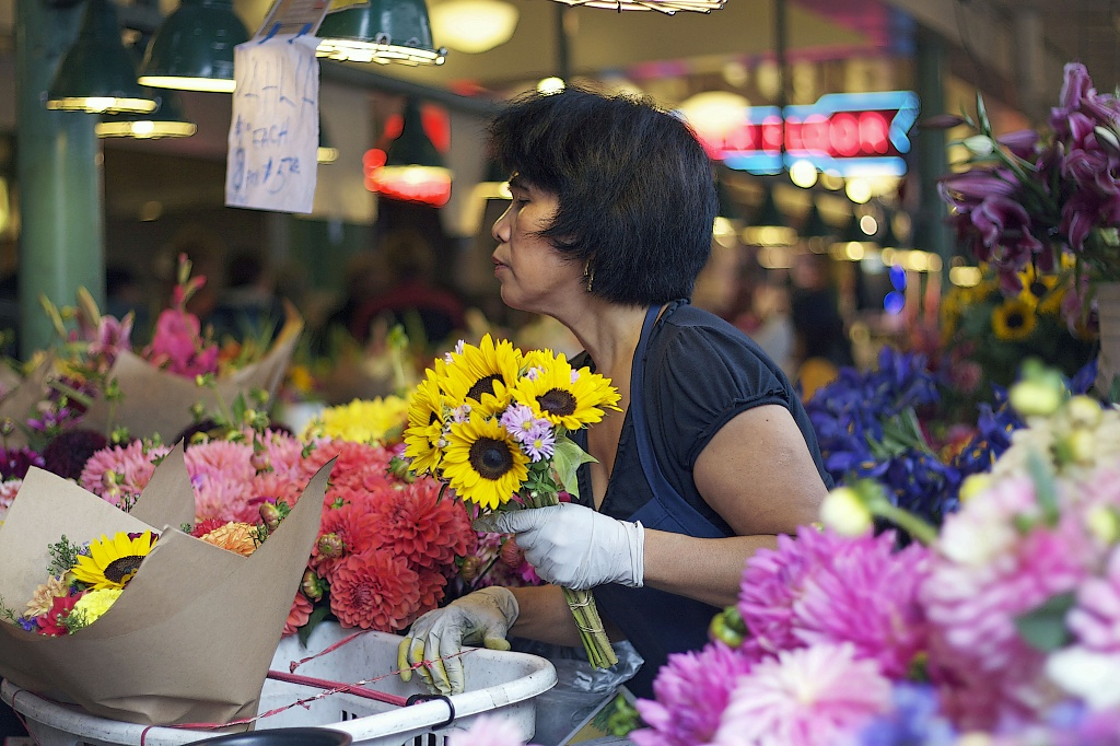 Flower Vendor by seattle