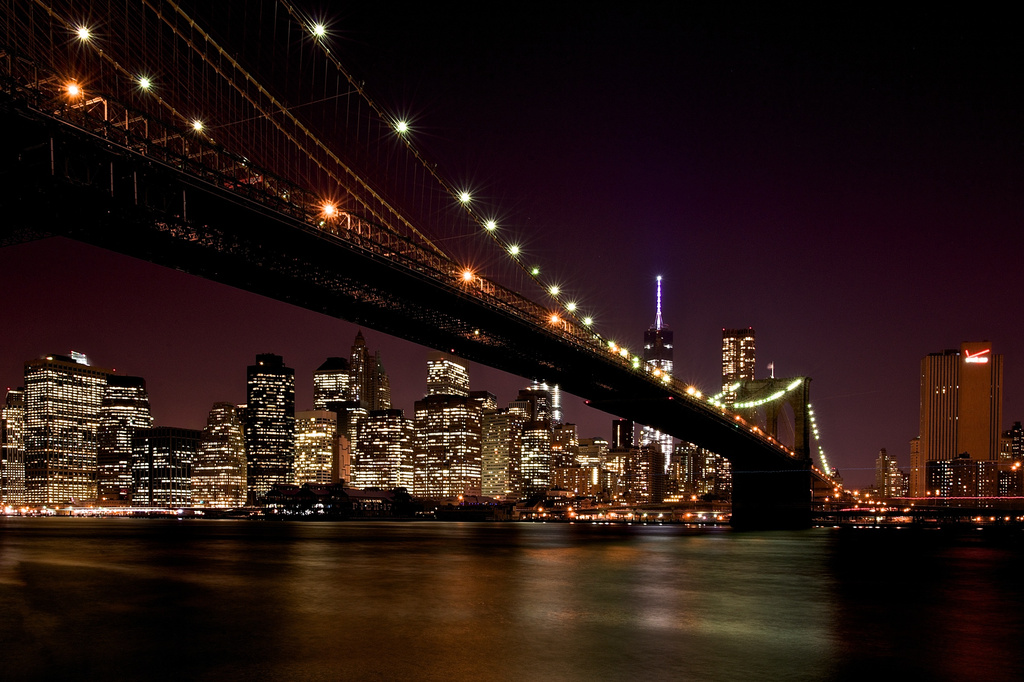 Brooklyn Bridge to Manhattan by taffy