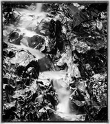 15th Feb 2014 - Waterfall Texture In Black and White