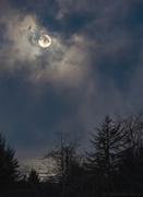 16th Feb 2014 - Cloudy Twilight Full Moon Shining On the Ocean