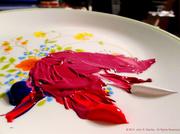 5th Mar 2014 - Naphthol Crimson + Ultramarine Blue + Titanium White