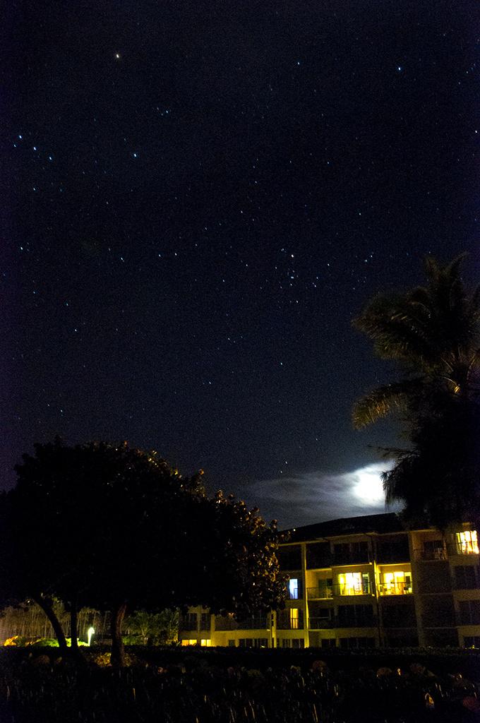 Night sky Kapa'a Kauai'i March 5, 2014 by Weezilou
