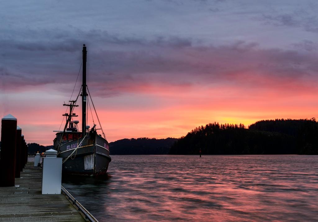 Boat At Sunrise At the Marina  by jgpittenger