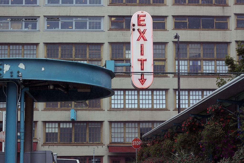 Exit... Hard to Miss!    by seattle