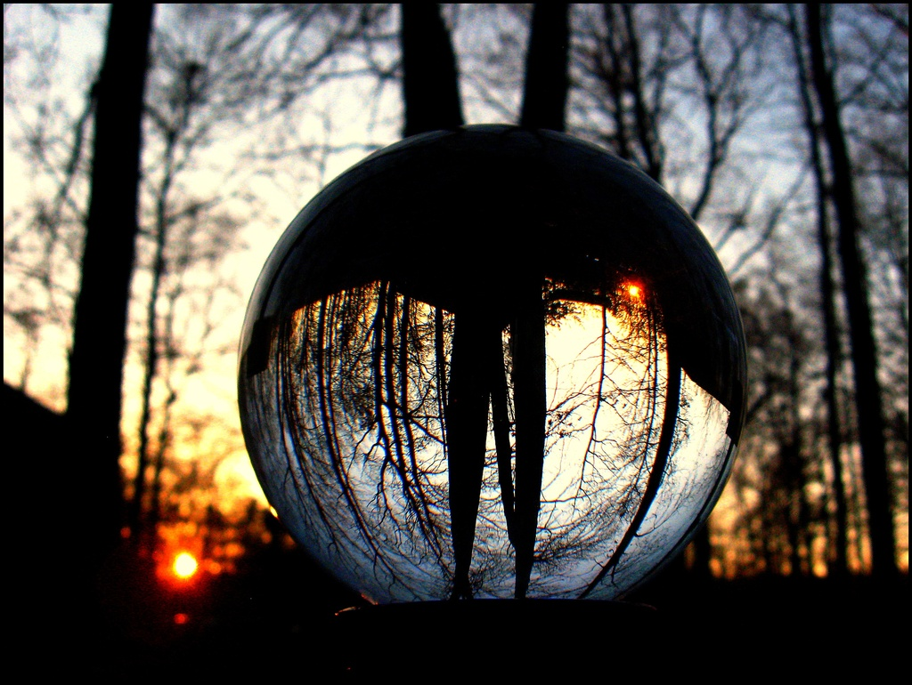 Sunset in a Glass Ball World by olivetreeann