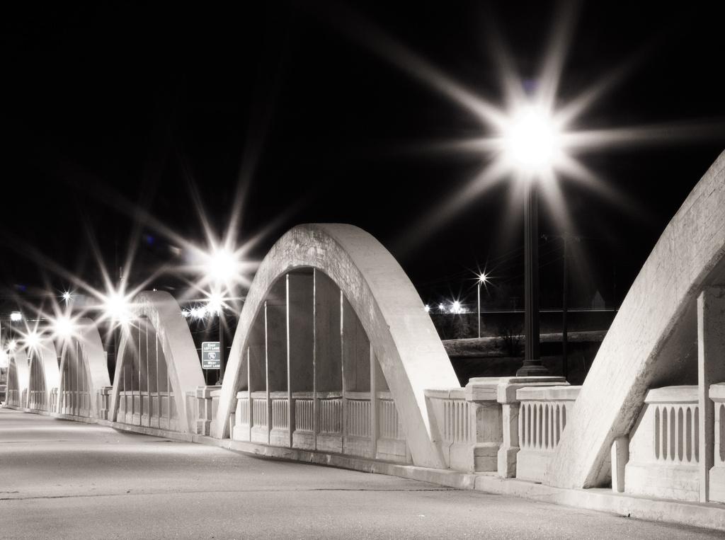 After dark...Rainbow Bridge  by aecasey