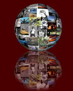 2nd Apr 2014 - spherical collage of my first 3 months in 365