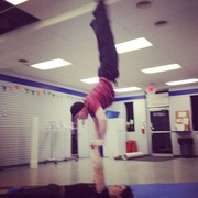 Wednesday Handstand day  on 365 Project