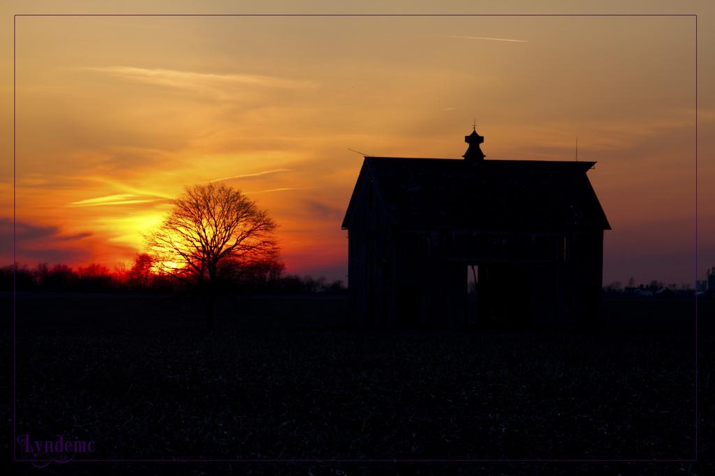 April Sunset by lyndemc