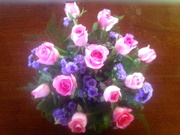 16th Apr 2014 - Flower Arrangement with pink rosebuds