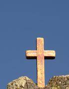 17th Apr 2014 - cross on post