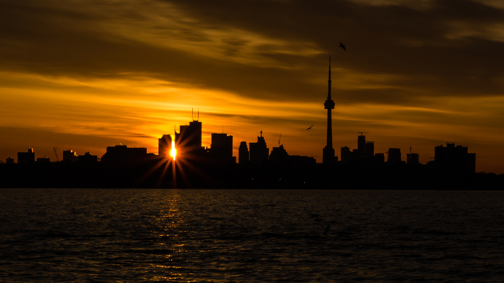 cityscape sunrise by northy