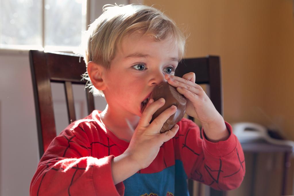 Chocolate for breakfast by kiwichick