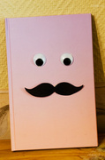 30th Apr 2014 - Mustache on a notebook