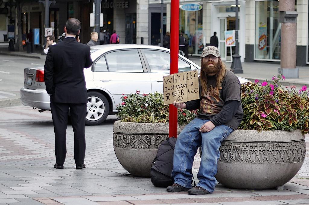 Working As A Honest Beggar by seattle