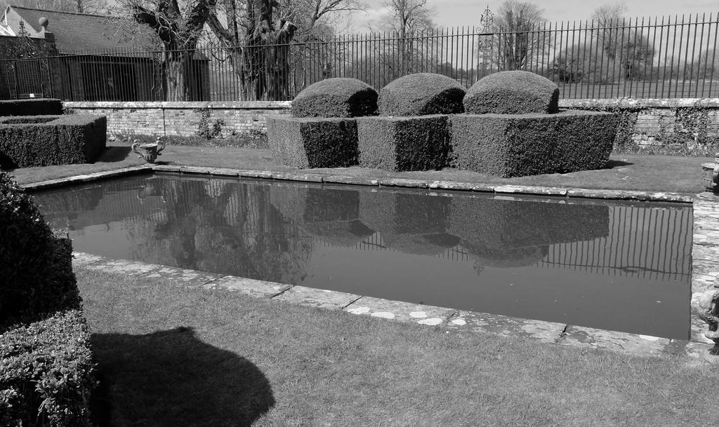 Avebury Manor - the garden pond by quietpurplehaze