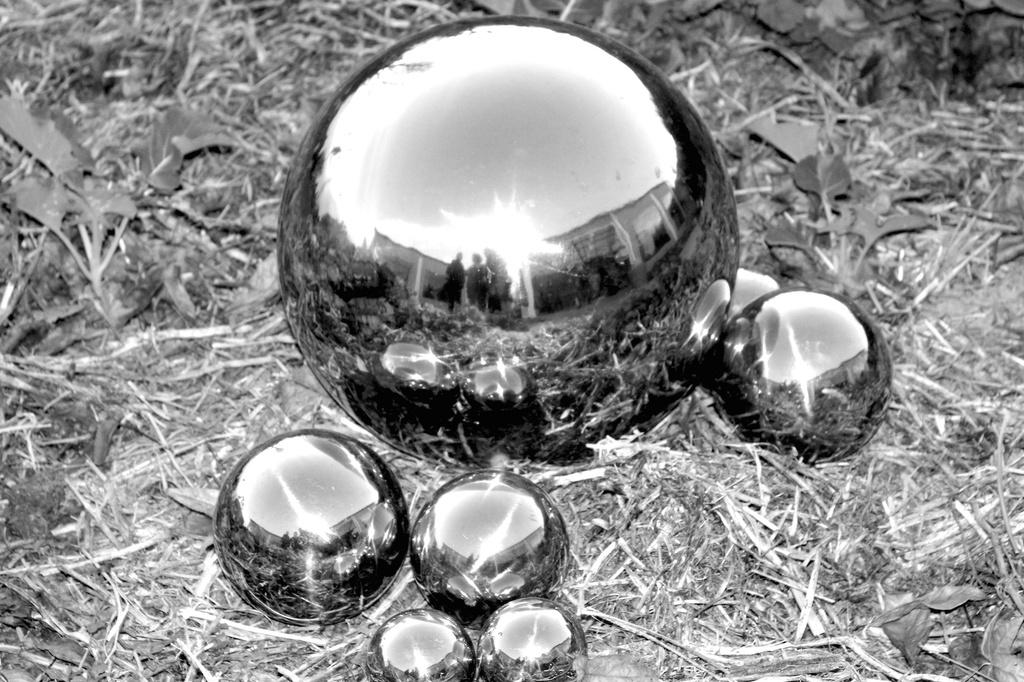 Garden spheres by kiwinanna