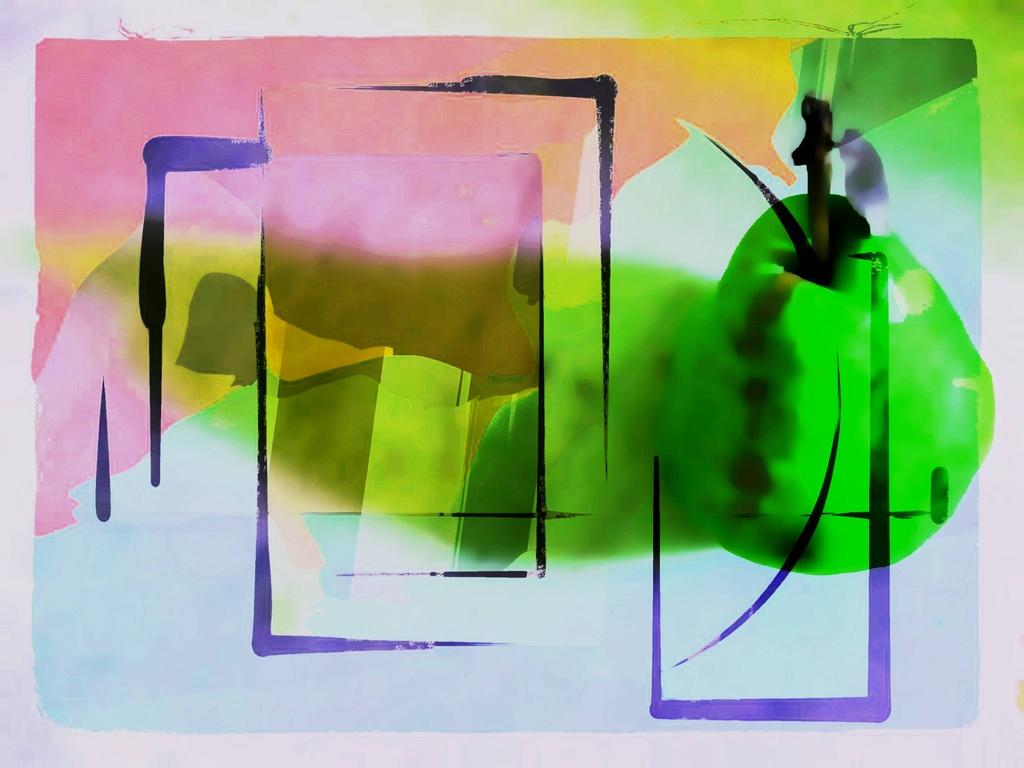 Modern Art Pear by olivetreeann