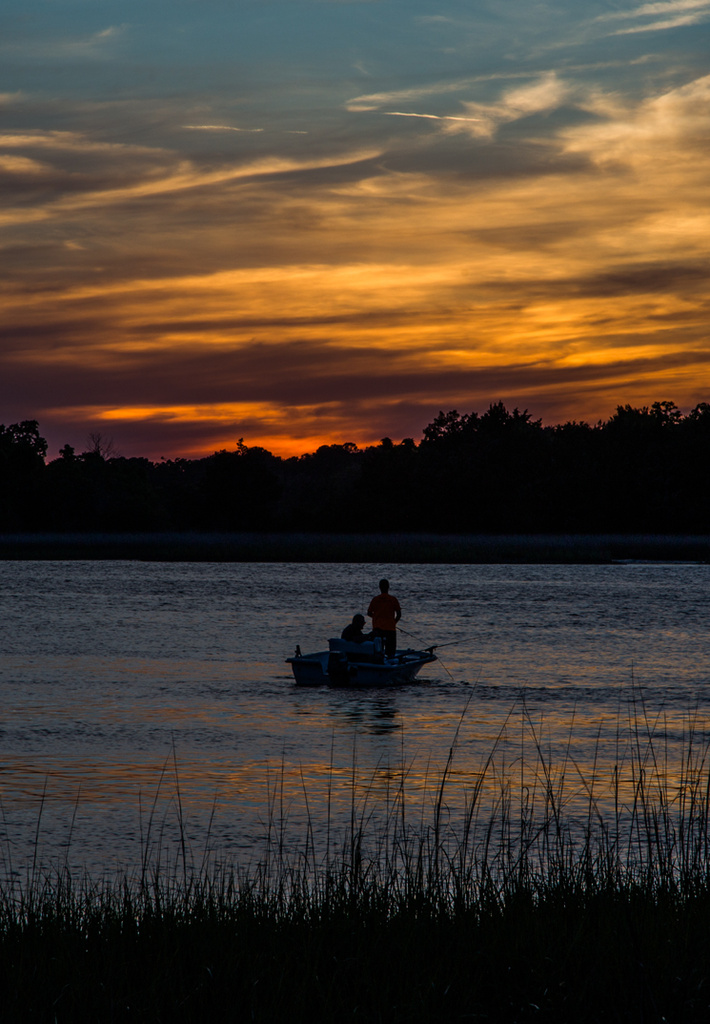 Fishing by last light by riverlandphotos