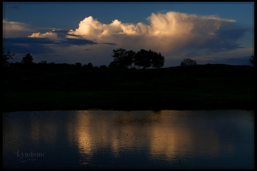 Sky Light on Water by lyndemc