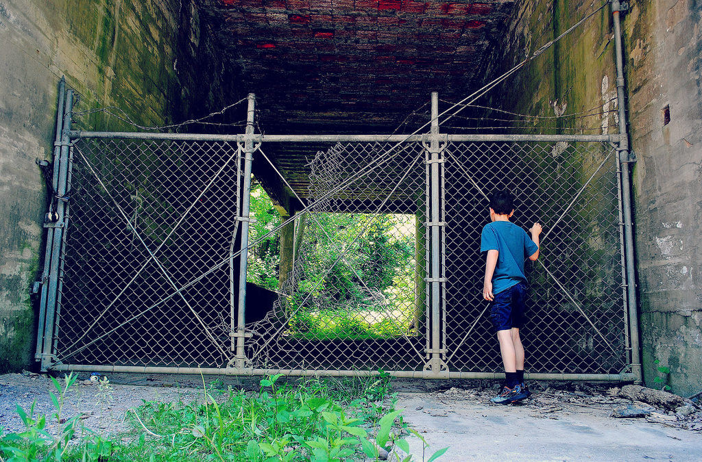 Peering Through A Tunnel of Grunge by alophoto