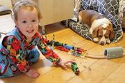 1st Jun 2014 - Happiness - a boy, trains & a dog!