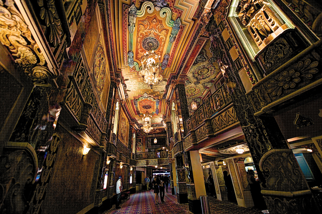 Oriental Theater Lobby by taffy
