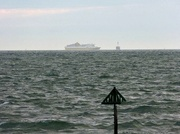 13th Jun 2013 - Boat going past the Nab Tower Lighthouse near the Isle Of Wight