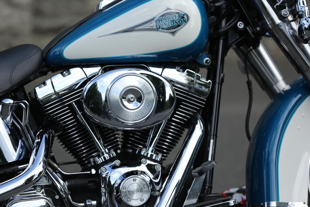 Harley Davidson by padlock
