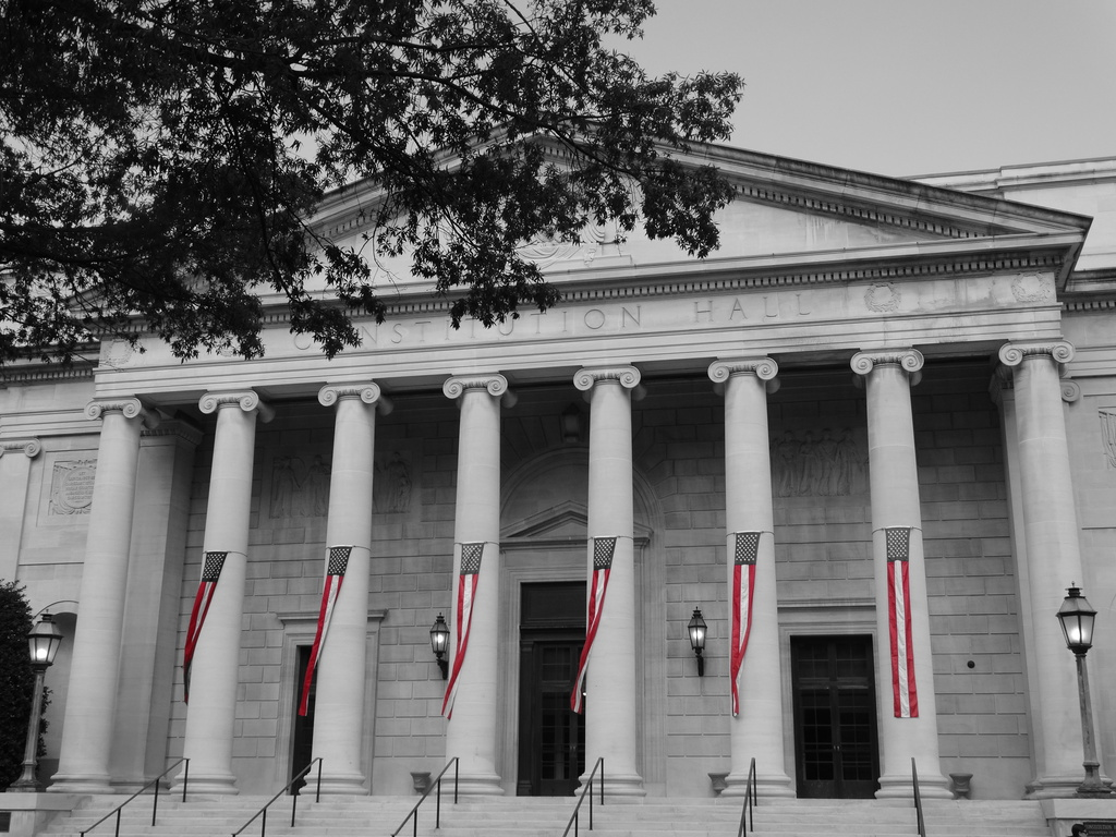 Festooned Constitution Hall by khawbecker