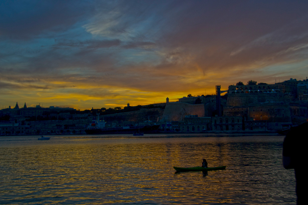 A PEACEFUL PADDLE FOR A KAYAKER by sangwann