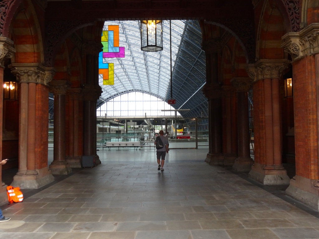 Running for train-St Pancras by padlock