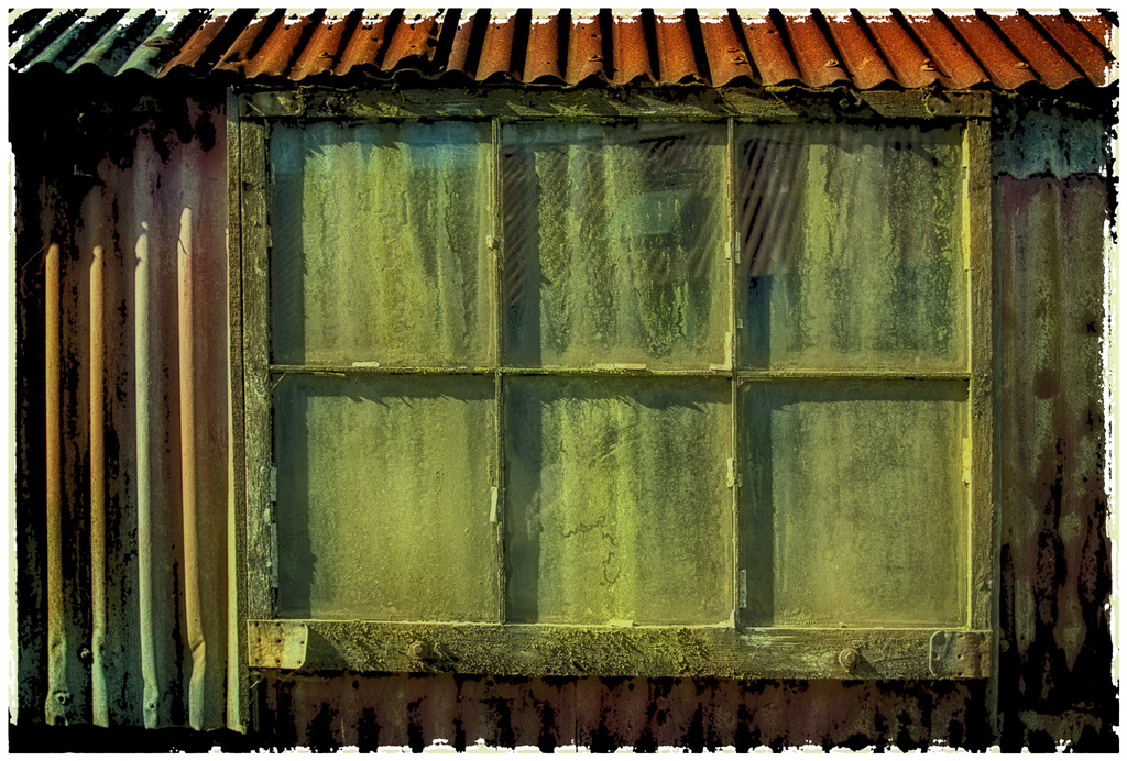 Window in old barn, St Mary's, Bramber  by ivan