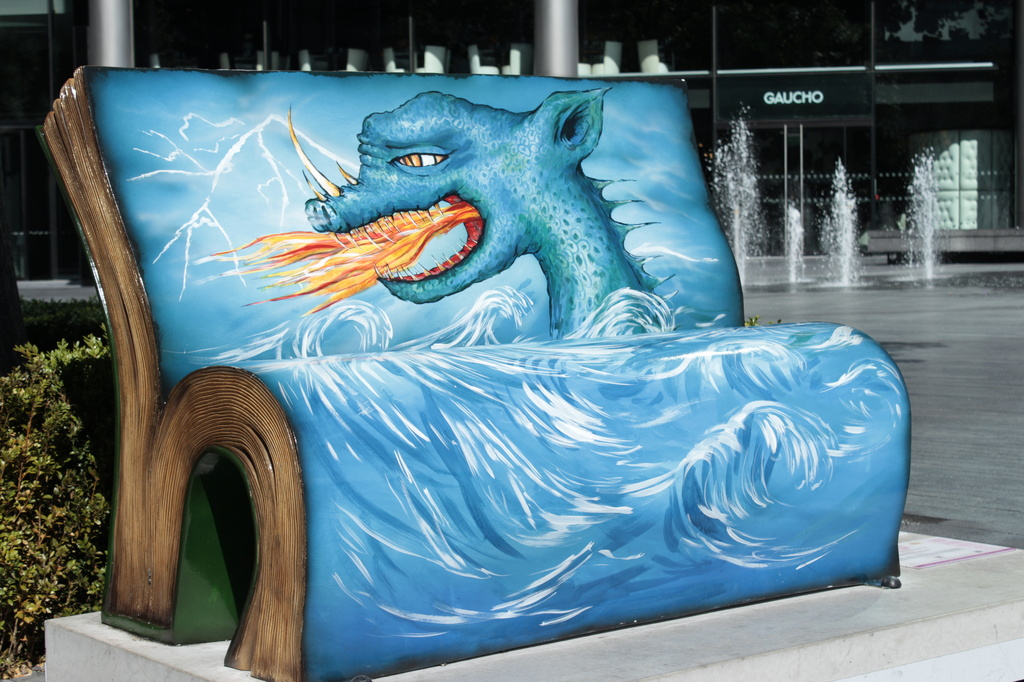 Book Bench by bizziebeeme