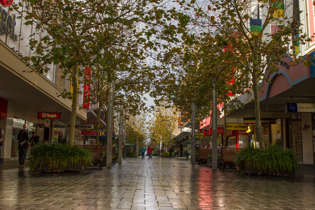City Mall after rain  by gosia