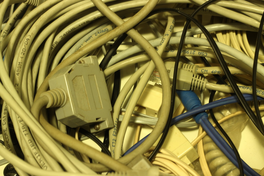 2014 07 29 Drawer of Forgotten Cables by kwiksilver
