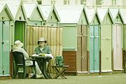 31st Jul 2014 - People Watching: Brighton Beach Huts