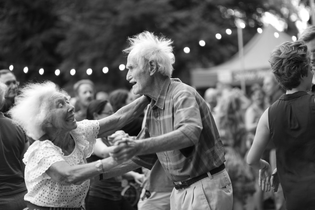 Pure Bliss On The Dance Floor.  Dancing To The Music Of Rainy City Riff Raff Playing Retro Swing by seattle