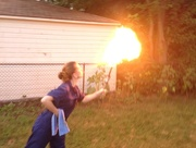 Fire breathing  on 365 Project