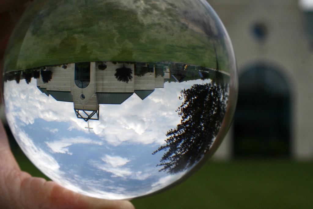 Church in a globe by mittens
