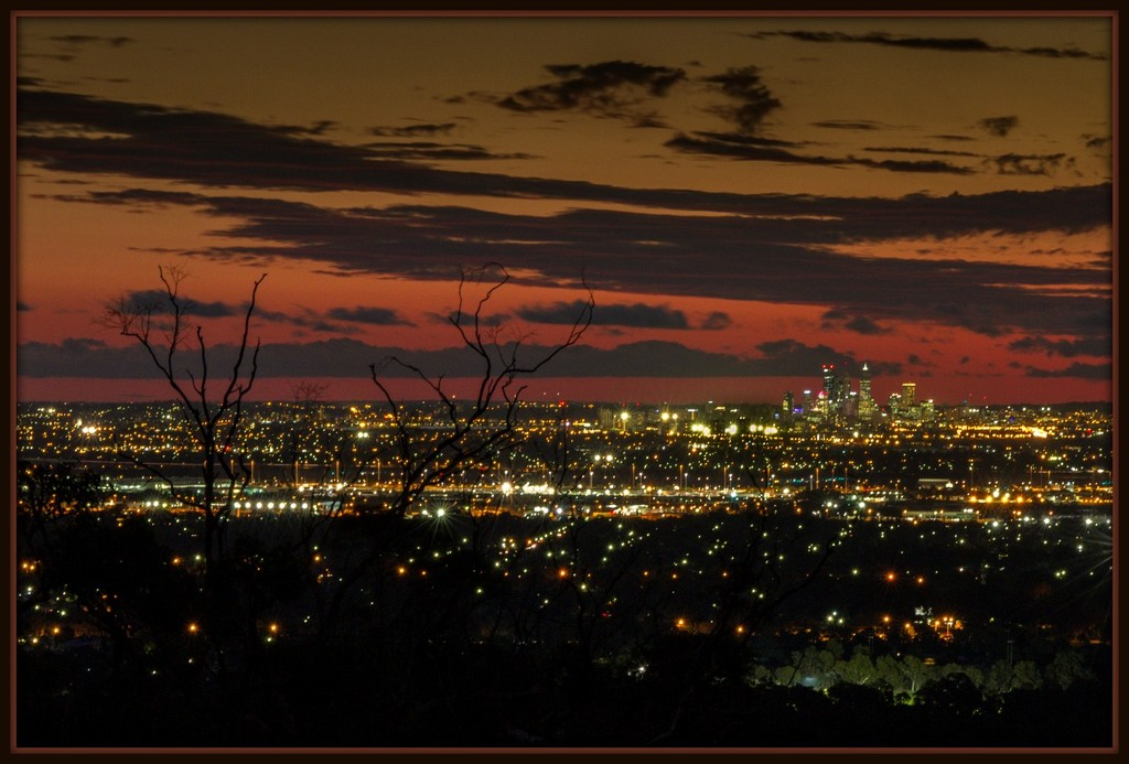 Blue hour time over Perth by gosia